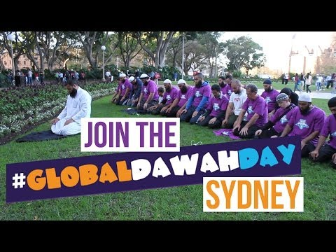 Global Dawah Day Sydney! What Your Goal? Dawah on the street