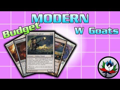 "MTG – Mono White Goats ""$30 Budget"" Tribal Modern Deck Tech for Magic: The Gathering!"