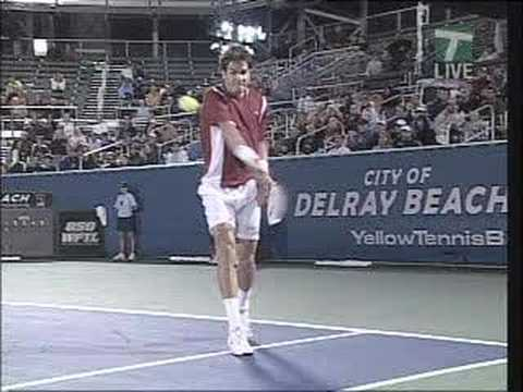Tommy Haas - Slow Motion Topspin Backhand