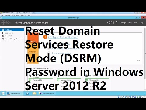 How to reset DSRM password in Windows Server 2012 R2 DC