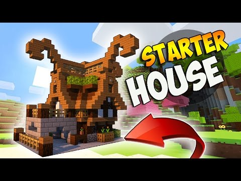 Minecraft: How To Build A Small Survival Starter House Tutorial (Fantasy Build)