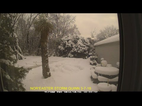 NOR'EASTER STORM QUINN TIME LAPSE (3-7-18)