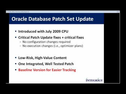 Oracle October 2011 Critical Patch Update E-Business Suite Impact