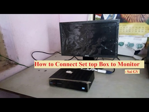How to connect Tata Sky set top box to monitor