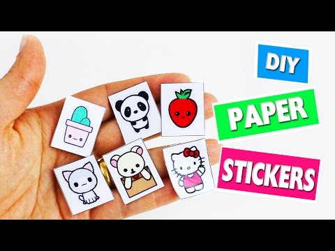 🎒🏫 Back to School Crafts: Homemade Paper Stickers