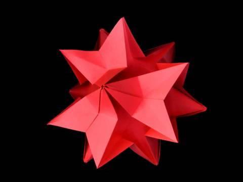How to make an Origami Amaryllis Kusudamas