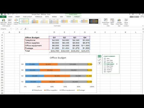 How to Use Excel to Make a Percentage Bar Graph
