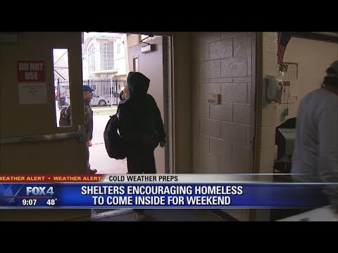 Housing the homeless during cold weather