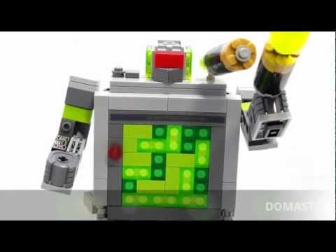 Transformer Gameboy Lego - Domaster and Tetrawing