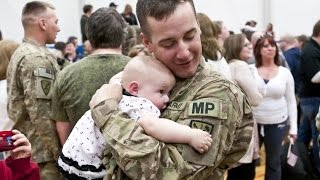 Soldier Meets Baby for First Time Compilation (2015)