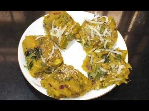 Zunka vadi recipe/ side dish for chapati,roti/zunukada vadi by riddhi's kitchen