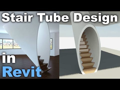 Tube Stair Design in Revit Tutorial