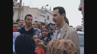 Bashar al-Assad in rare public appearance