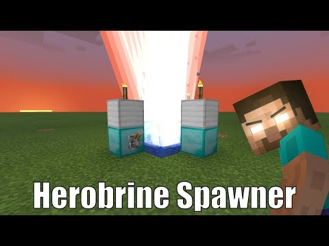 How To Make a Herobrine Spawner in Minecraft Pocket Edition
