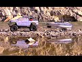 Rc Cwr Trailin With The Scx 10 And Boat Trailer For The Ndq