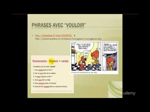 Learn French Online - Verb 'VOULOIR' (to want) + infinitive