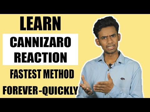 SUPER TRICK TO LEARN ORGANIC CHEMISTRY REACTIONS | CANNIZZARO REACTION | Hindi