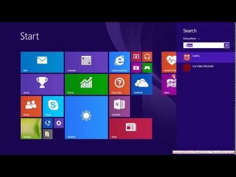 how to set alarm in windows 8 or 8.1 system