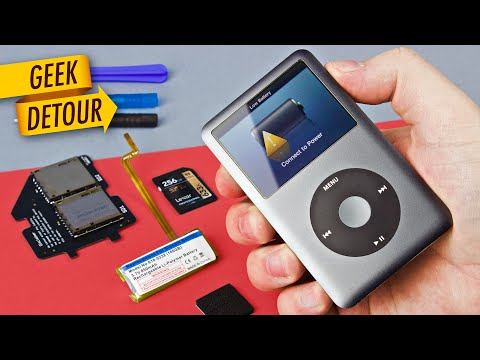 How to replace iPod battery & SD Card upgrade: 160GB iPod Classic with