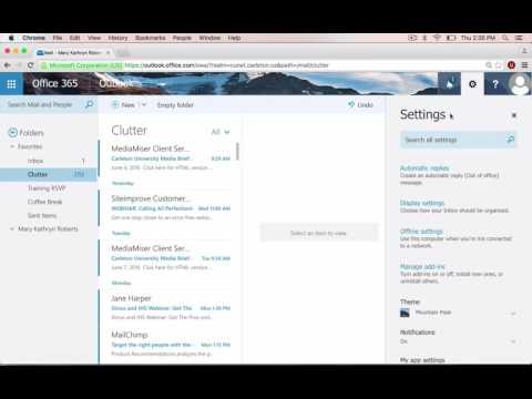 How to Turn On and Off Clutter in Microsoft Exchange