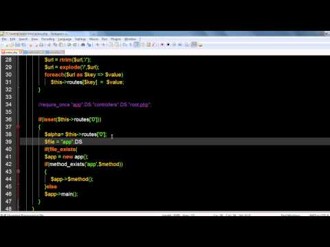 Coding a PHP MVC framework - Multiple Controllers 1.7