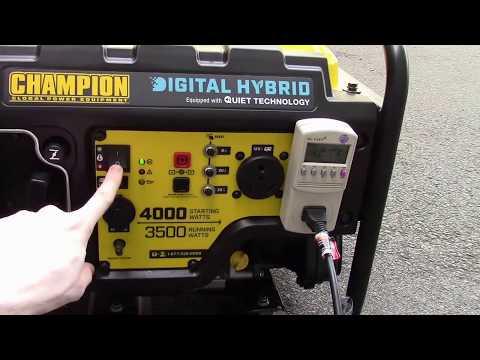 Champion 3500/4000 Watt Digital Hybrid Inverter Generator - 100302
