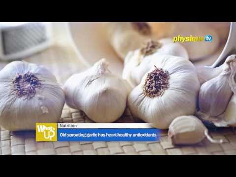 Old sprouting garlic has heart-healthy antioxidants