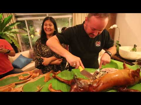 How to Carve a Pepita's Lechon? by Chef Cicou @Pepita's Kitchen