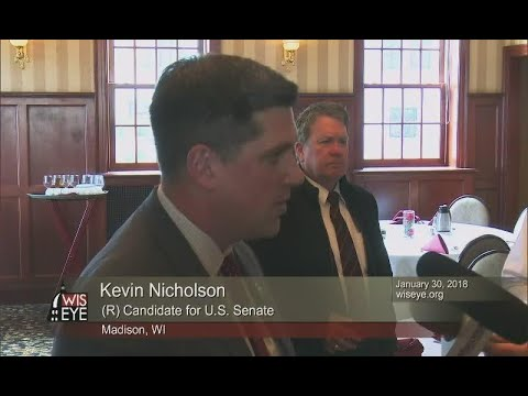 Wispolitics Luncheon: Kevin Nicholson (R) answers reporters questions about his past