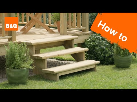 How to build a decking step