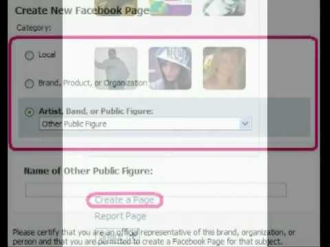 How-to-make-your-own-fan-page-on-Facebook.flv