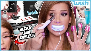 Testing WEIRD af *WISH* GADGETS! (Lip Plumping Vacuum, Eye Massager, & MORE!)