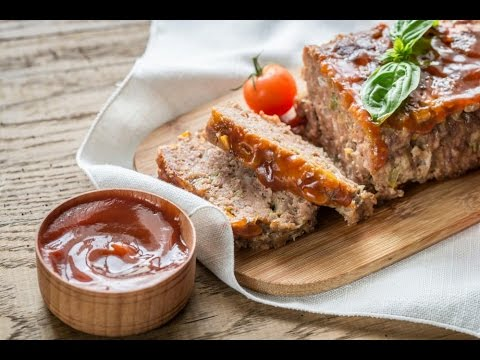 Easy meatloaf recipe with bread crumbs and ketchup