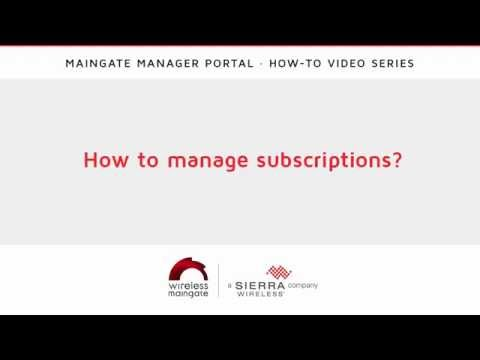 How to manage subscriptions