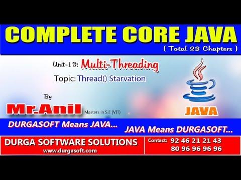 Core Java-Multi-Threading-Thread Starvation