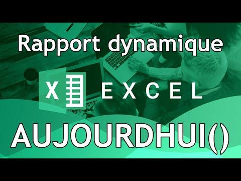 Fonction AUJOURDHUI dans Excel
