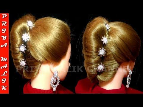Quick Easy French Bun/ French Roll/ French Twist Tutorial - Easy Hairstyle | Priya Malik