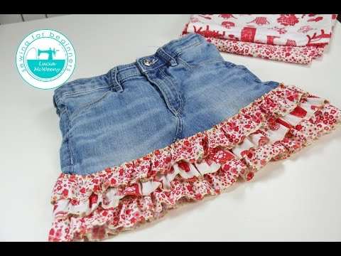 Upcycle your old jeans and make a skirt