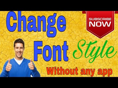 How to change Android Mobile font style without any App in Urdu+Hindi