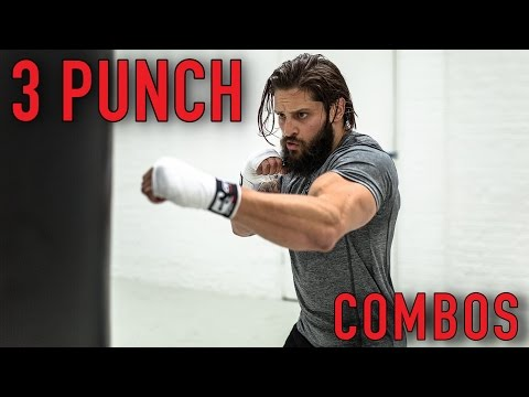 BOXING FAT LOSS WORKOUT   BEGINNER 3 PUNCH COMBOS   Heavy Bag (Pt. 2)