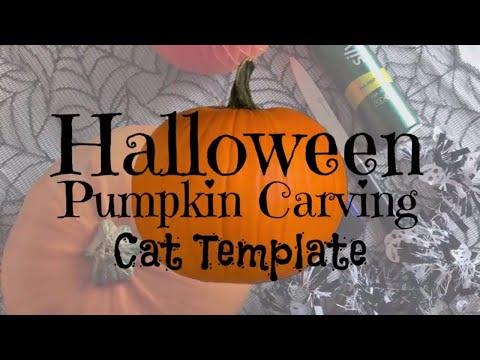 Halloween Pumpkin Carving Tutorial: Cat Stencil
