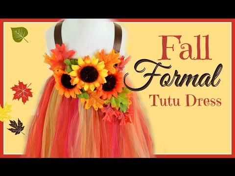 DIY Fall Formal Tutu Dress