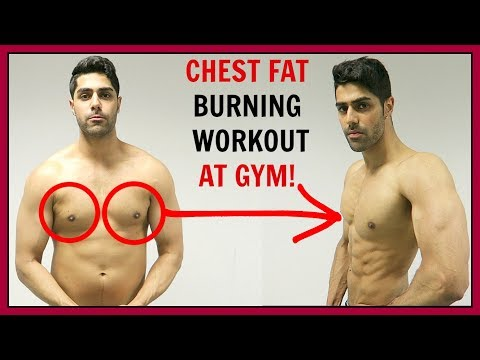 CHEST FAT BURNING WORKOUT AT GYM - BEST EXERCISES!!