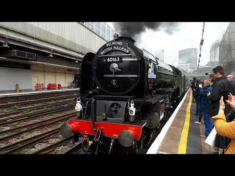 60163 tornado departs London Victoria 1Y82 paddington afternoon tea trip to shalford 07/04/18