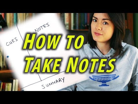How to Take Great Notes - Study Tips - How to be a Great Student - Cornell Notes