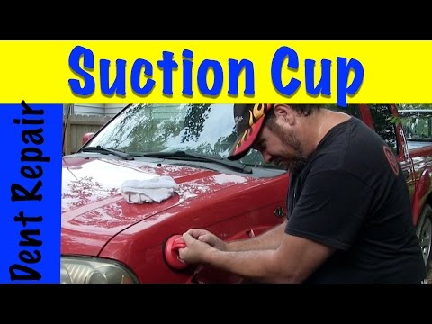 DIY How To Repair Dent Using Suction Cup