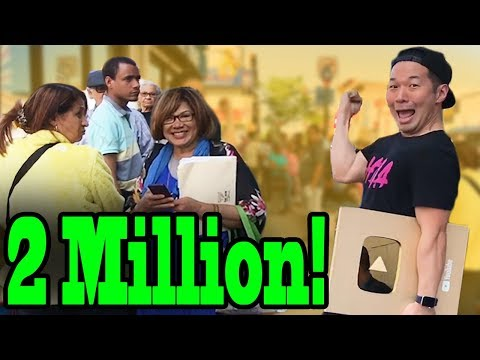 2 MILLION SUBSCRIBERS Celebration in Public + HUGE GIVEAWAY ($2000, IPhone X,, Yeezys)