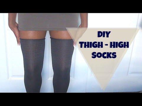 DIY THIGH High Socks!