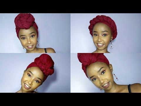 1 Scarf, 4 Ways // 4 Easy Head wrap Styles // Wabosha Maxine