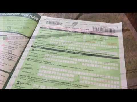 Irish passport application